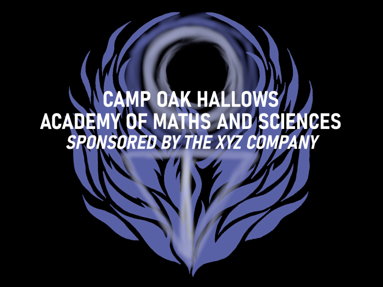 COH Academy of Maths and Sciences example banner image with XYZ Sponsor line